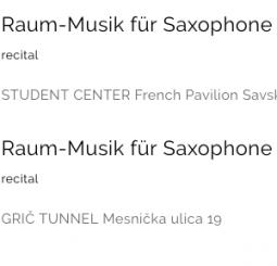 Raum-Musik für Saxophone