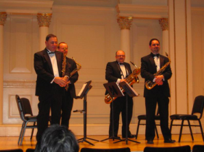 New Jersey Saxophone Quartet with the University of Delaware Percussion Ensemble Harvey Price conductor