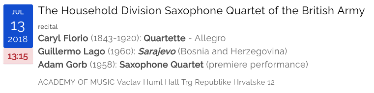The Household Division Saxophone Quartet of the British Army